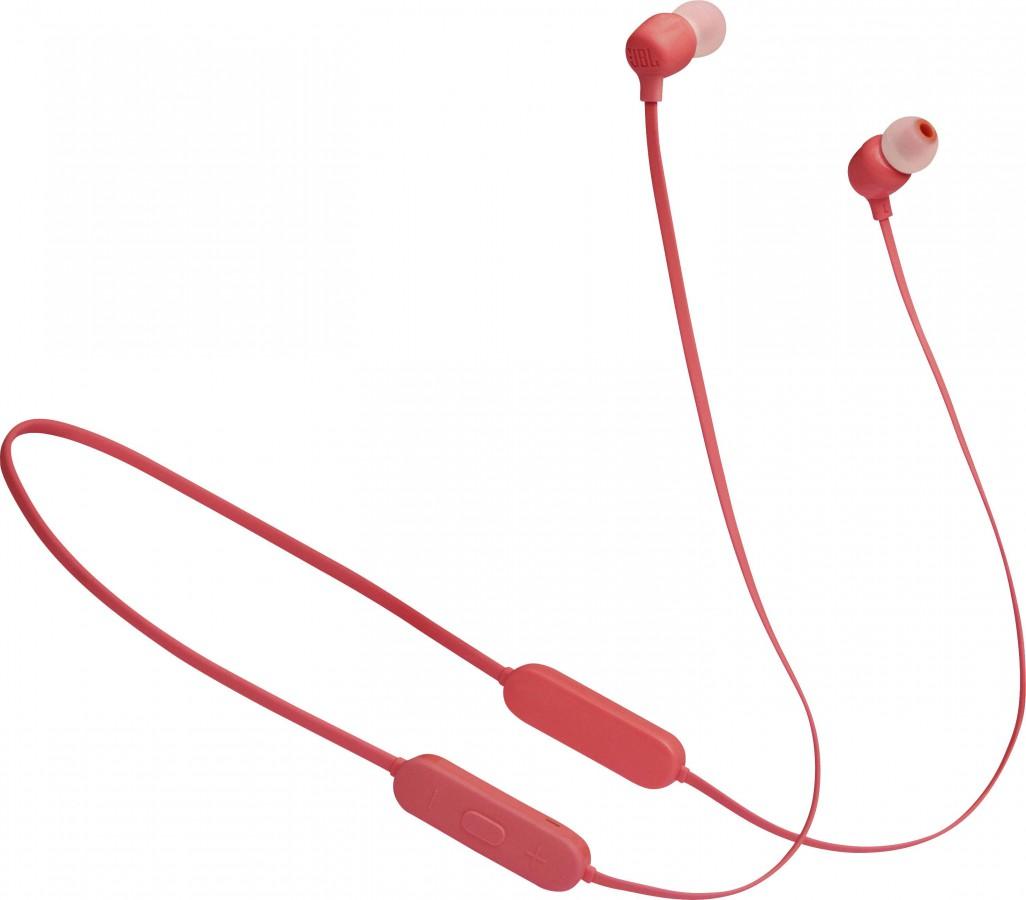 JBL Pure Bass Wireless Headset Tune125 – Coral