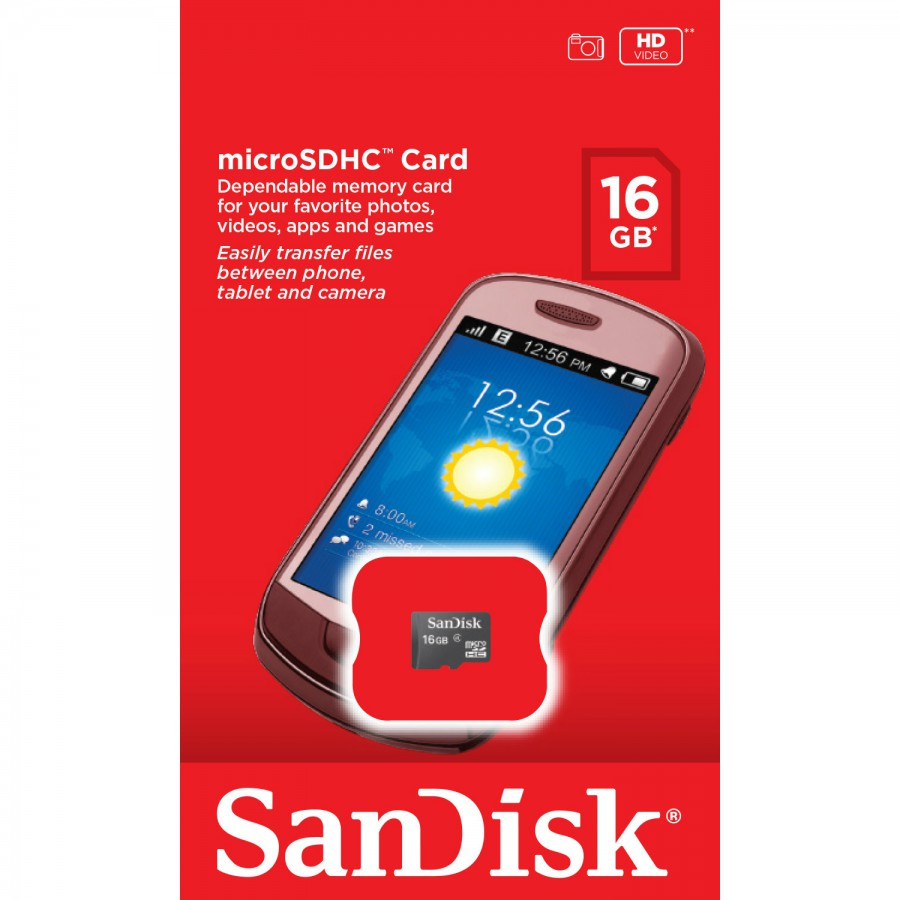 SANDISK MICRO SD 16GB WITHOUT ADAPTOR SDSDQM