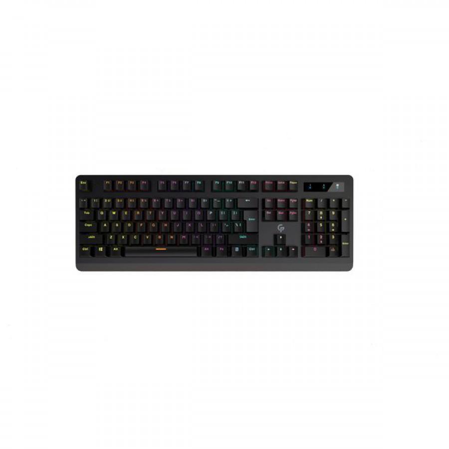 Porodo Gaming Full-Size Mechanical Keyboard Gaming Keyboard With Rainbow Lighting – Black