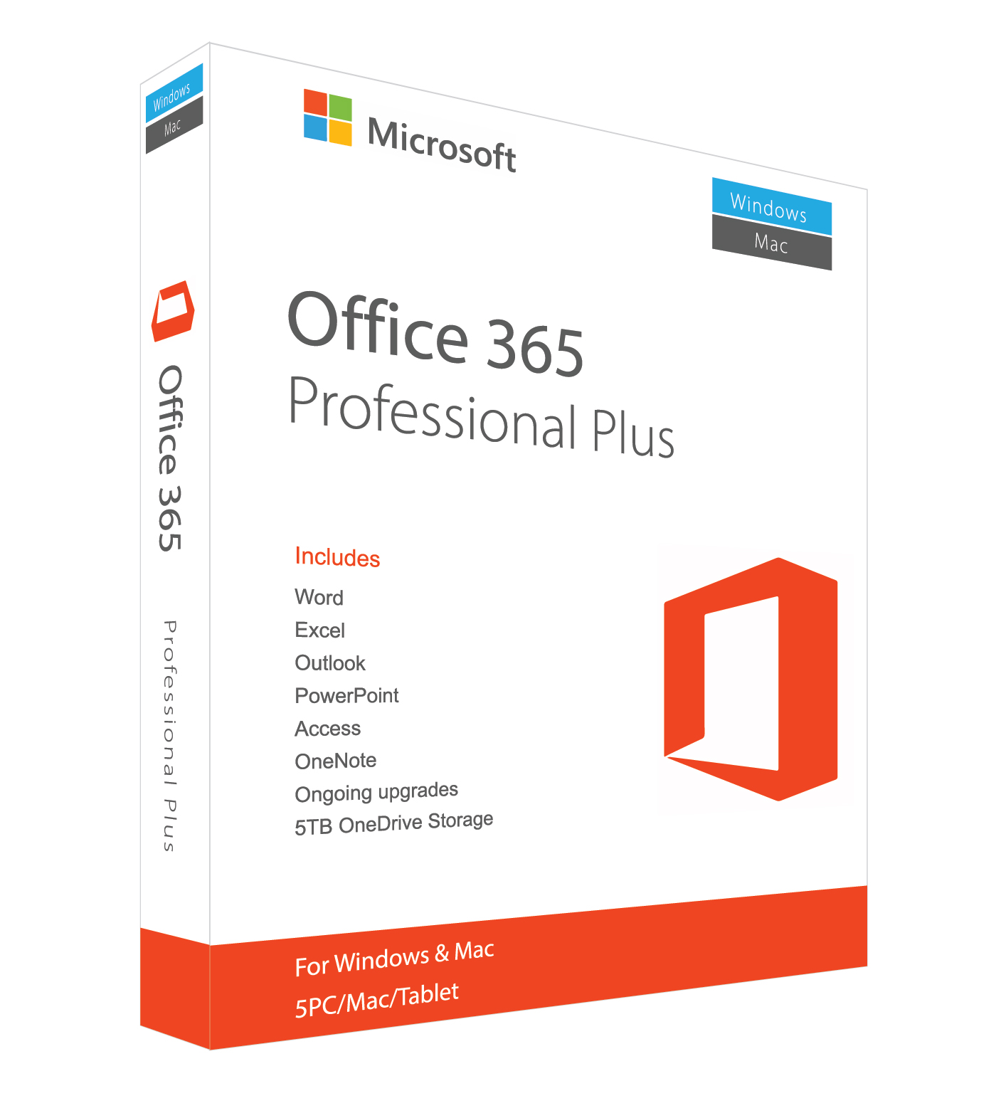 Microsoft Office 365 Pro Plus For Windows/MAC/Mobile (up to 5 People)Three Years Subscription