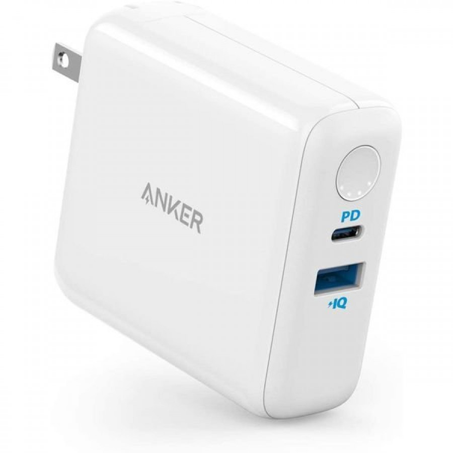 Anker Powercore III Fusion 5000 Powerbank+Wall Charger white A1624H22
