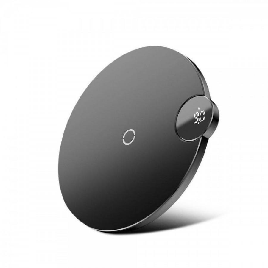 Baseus Digtal LED Display Wireless Charger Black#WXSX-01