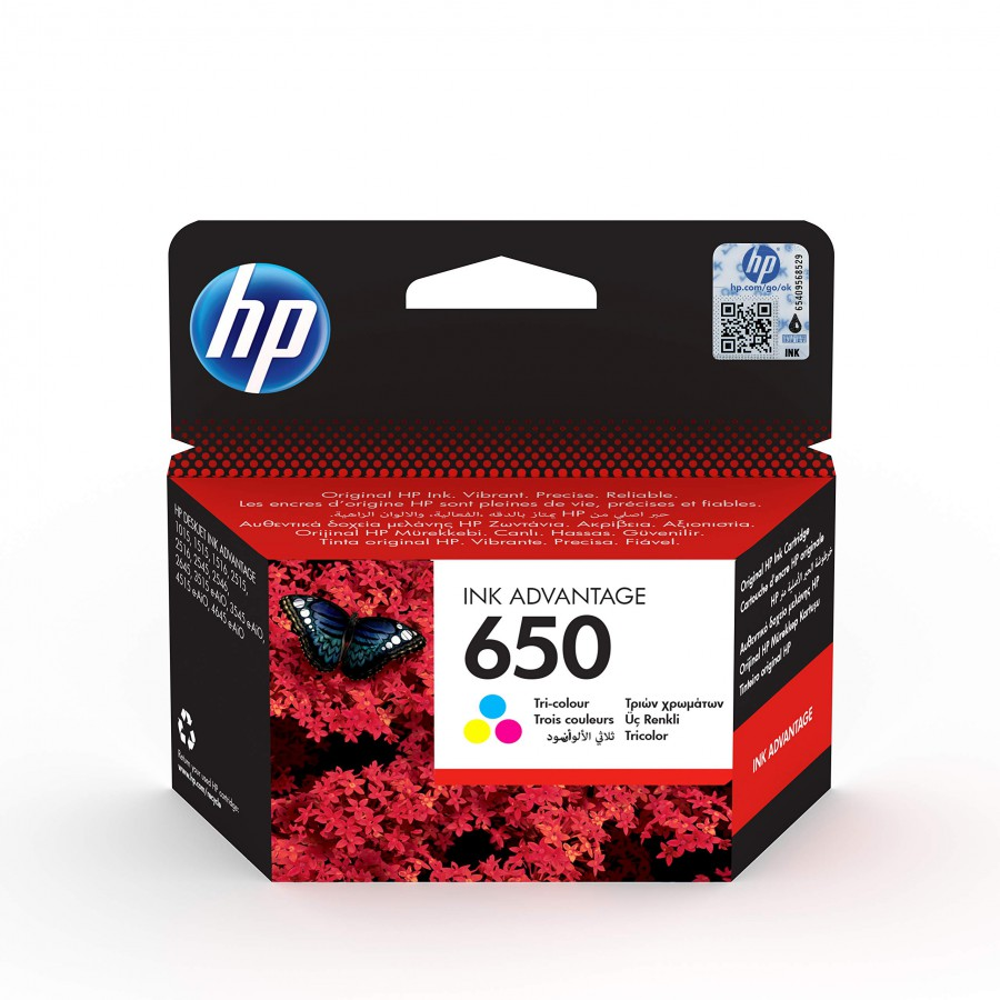 HP INK CARTRIDGE 650 COLOUR