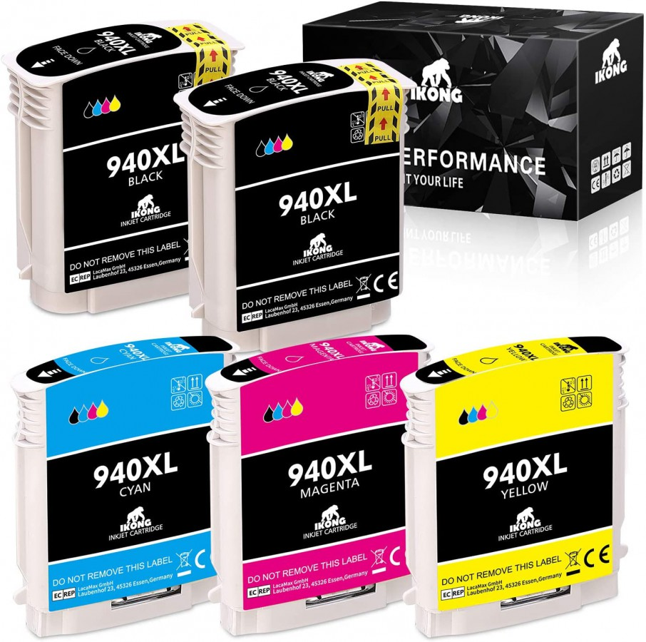 IKONG Remanufactured Ink Cartridge Replacement for HP 940 940XL High Yield use with HP Officejet Pro 8000 8500 8500A 8500A Plus Inkjet Printer