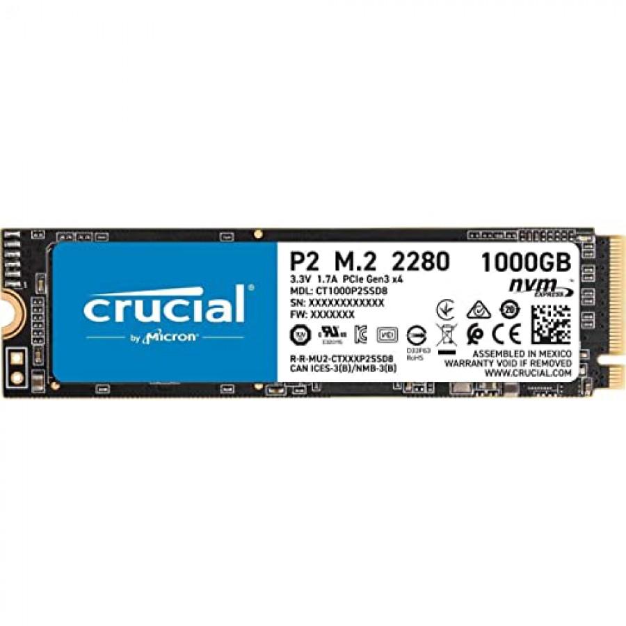 CRUCIAL P2 NVME PCIe 2280 M.2 SSD 1TB