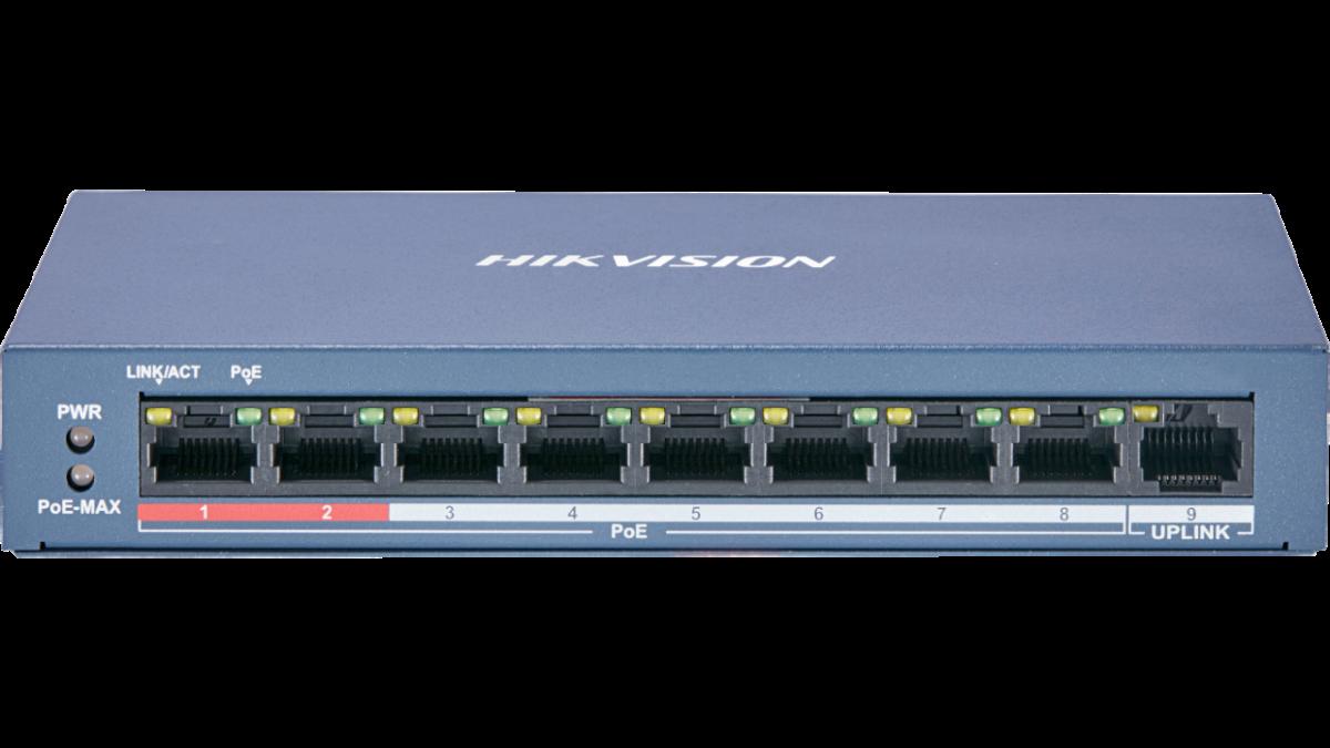 Hikvision DS-3E0109P-E 8 Port Unmanaged PoE Switch